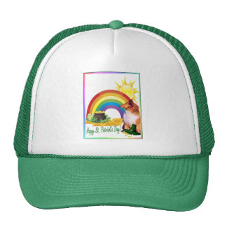 Awesome Collie St. Patrick's Day Wishes Trucker Hat