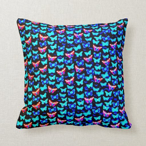 Awesome Colorful Butterflies Art Design Pillow