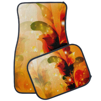 Awesome colorful leaves car floor mat