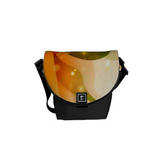 Awesome colorful leaves with glowing light courier bag