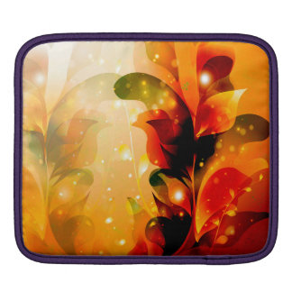 Awesome colorful leaves with glowing light sleeve for iPads