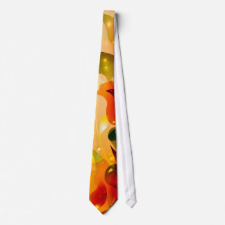 Awesome colorful leaves with glowing light tie