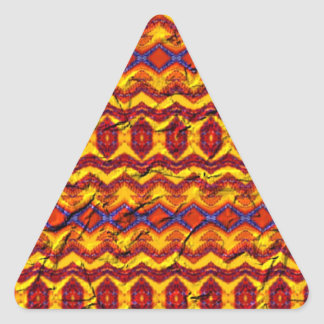 Awesome colorful pattern triangle sticker