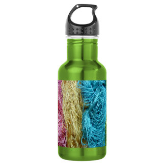 Awesome Colorful Wool Yarn Crochet Knit Design 18oz Water Bottle