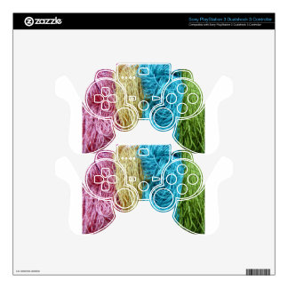 Awesome Colorful Wool Yarn Crochet Knit Design PS3 Controller Decals
