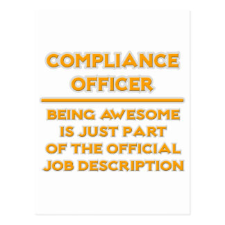 Awesome Compliance Officer .. Job Description Postcard
