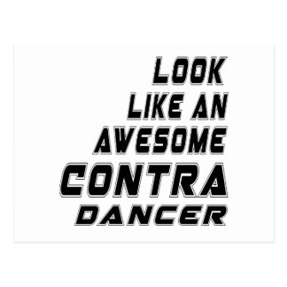 awesome Contra Dancing Postcard