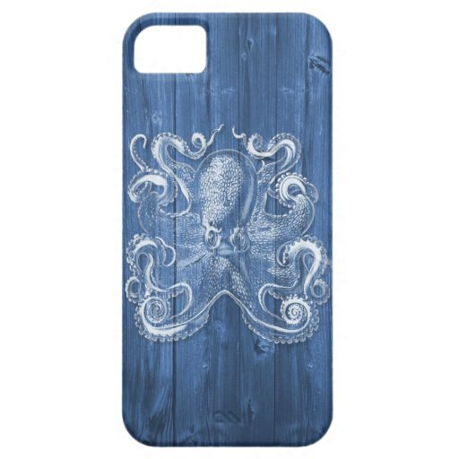 awesome cool Antique effect white octopus iPhone 5 Cases