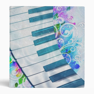 Awesome cool blue circular  piano light effect binder