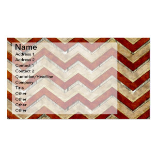 Awesome cool chevron zigzag pattern business cards