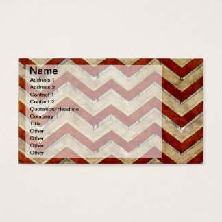 Awesome cool chevron zigzag pattern business card