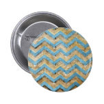 Awesome cool chevron zigzag pattern 2 inch round button
