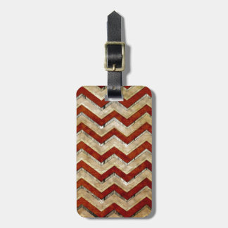 Awesome cool chevron zigzag pattern bag tag