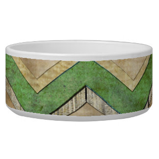 Awesome cool chevron zigzag pattern dog bowls