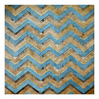 Awesome cool chevron zigzag pattern poster