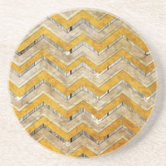 Awesome cool chevron zigzag pattern wood marble sandstone coaster