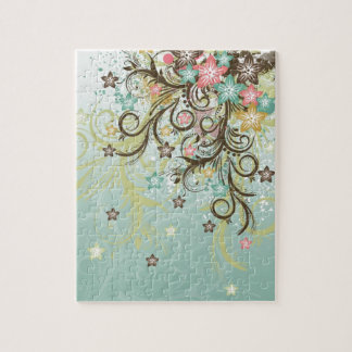Awesome cool swirls dots leaves splatters flowers puzzle