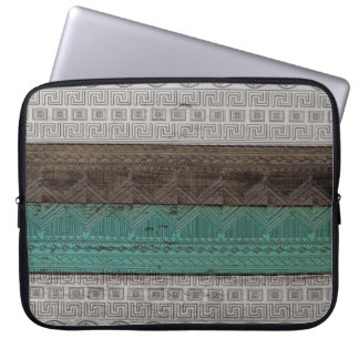 Awesome cool trendy Aztec geometric pattern Laptop Sleeve
