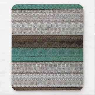 Awesome cool trendy Aztec geometric pattern Mouse Pad