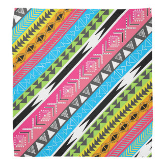 Awesome Cool trendy Aztec tribal Andes bright neon Bandana