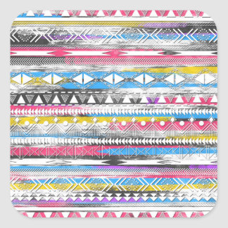 Awesome Cool trendy Aztec tribal Andes pattern Square Sticker