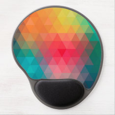 Awesome Cool Trendy Colourful Triangles Pattern Gel Mouse Pad at Zazzle