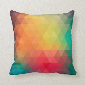 Awesome cool trendy colourful triangles pattern throw pillow