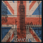 "Awesome cool trendy old wood grunge U.k. flag Cloth Napkin<br><div class=""desc"">Awesome cool trendy old wood grunge U.k. Union Jack Flag,  antique effects,  London landmarks sketch,  Big Ben,  phone box,  red bus,  London street,  vintage font London word,  black,  white,  red,  blue faded colours,  image print.</div>"