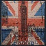 "Awesome cool trendy old wood grunge U.k. flag Cloth Napkin<br><div class=""desc"">Awesome cool trendy old wood grunge U.k. Union Jack Flag,  antique effects,  London landmarks sketch,  Big Ben,  phone box,  red bus,  London street,  vintage font London word,  black,  white,  red,  blue faded colours,  image print.</div>"