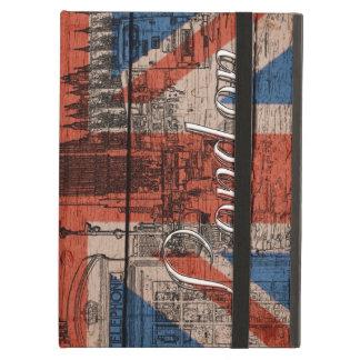 Awesome cool trendy old wood grunge U.k. Flag iPad Air Cover