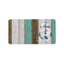 Awesome cool vintage blue anchor white snake label