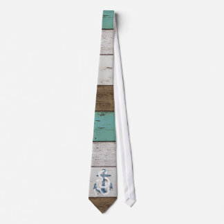 Awesome cool vintage blue anchor white snake neck tie