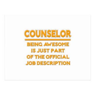 Awesome Counselor .. Official Job Description Postcard