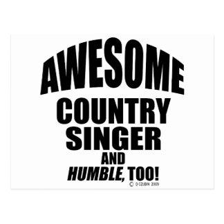 Awesome Country Singer Postcard