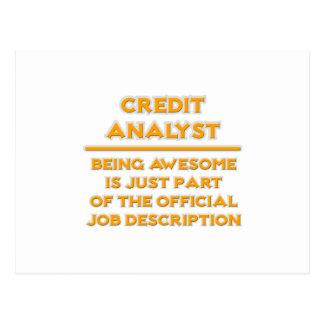 Awesome Credit Analyst .. Job Description Postcard