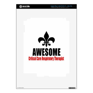 AWESOME Critical Care Respiratory Therapist Decals For iPad 3