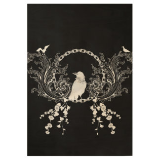 Awesome crow wood poster
