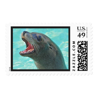Awesome Cute Sea Lion Seal Postage Stamp