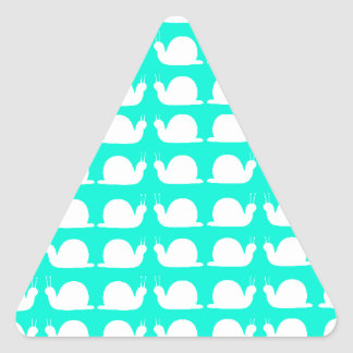 AWESOME CUTE SNALES COOL MODERN DESIGN TRIANGLE STICKER
