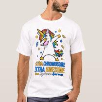 Awesome Dabbing Unicorn Down Syndrome Awareness T-Shirt