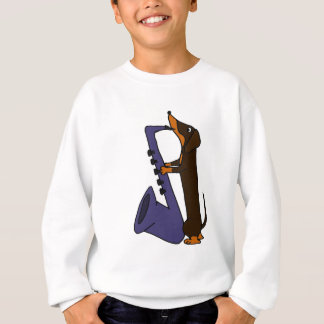 Awesome Dachshund Dog Playing Saxophone Sweatshirt