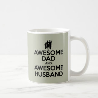 Awesome Dad And Awesome Husband Classic White Coffee Mug