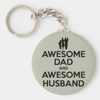 Awesome Dad And Awesome Husband Keychain