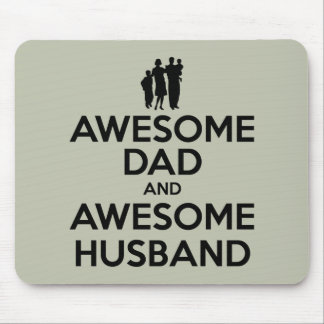 Awesome Dad And Awesome Husband Mouse Pad