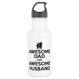 Awesome Dad And Awesome Husband 18oz Water Bottle