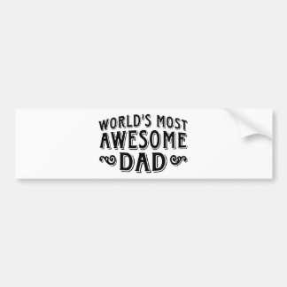 Awesome Dad Bumper Sticker