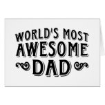 Awesome Dad Greeting Cards