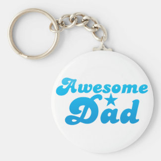 Awesome DAD in blue Keychain