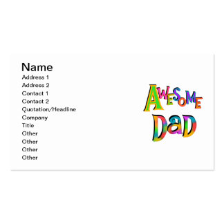 Awesome Dad T-shirts and Gifts Business Card