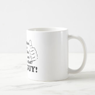 Awesome dad with thumbs classic white coffee mug